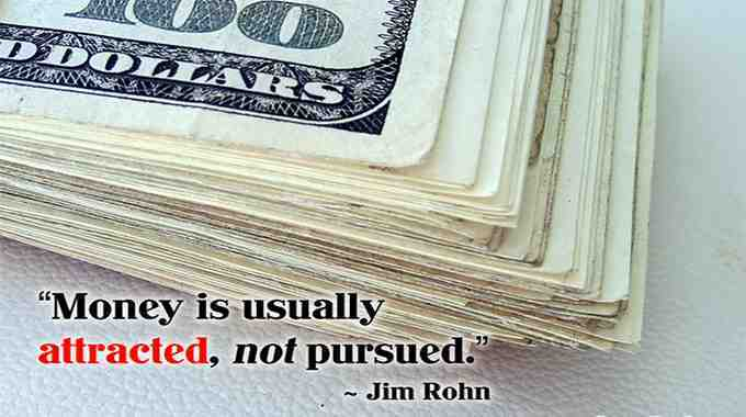 Jim Rohn quote on how to attract wealth.