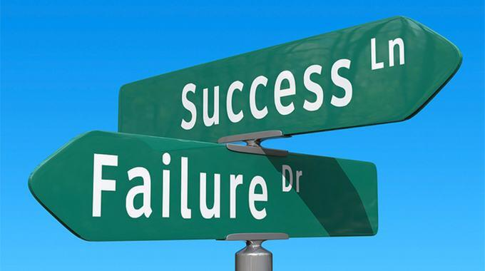 When you feel like a failure, remember success is around the corner.