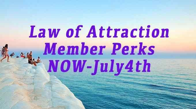 Law of Attraction Member Perks
