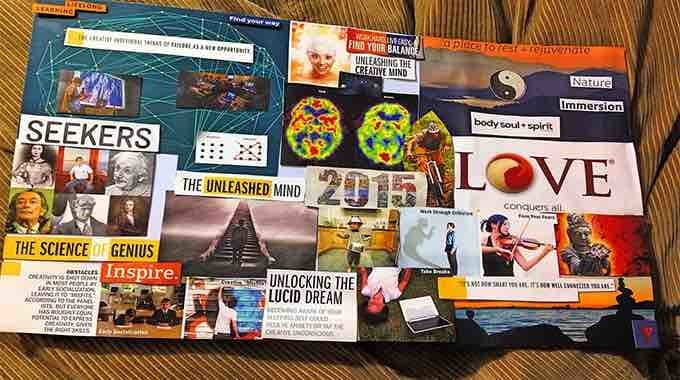 Learn how to make a vision board.