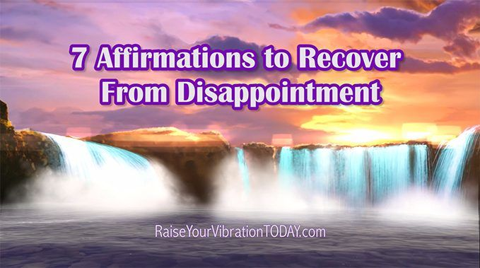 recover from a disappointment